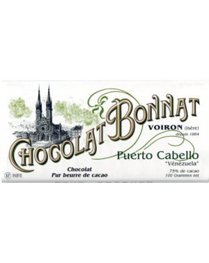 Tablette de chocolat Puerto Cabello 100gr - Bonnat