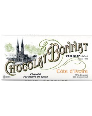 Tablette de chocolat Cote d'Ivoire - Bonnat