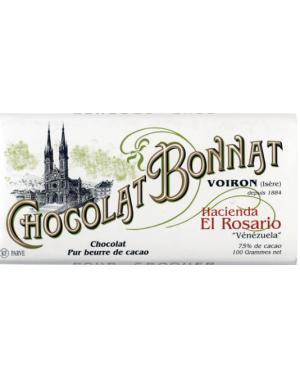 Tablette de chocolat Hacienda el Rosario 100gr - Bonnat