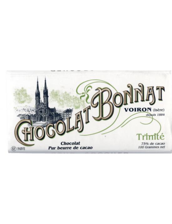 Tablette de chocolat Trinité 100gr - Bonnat