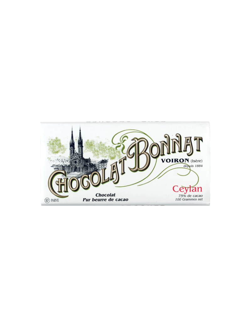 Tablette de chocolat Ceylan 100gr - Bonnat