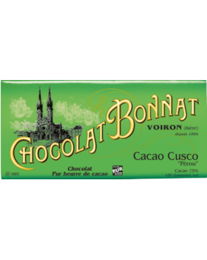 Tablette de chocolat cacao Cusco 100gr - Bonnat