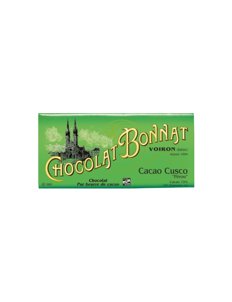 Tablette de chocolat cacao Cusco 100gr - Bonnat
