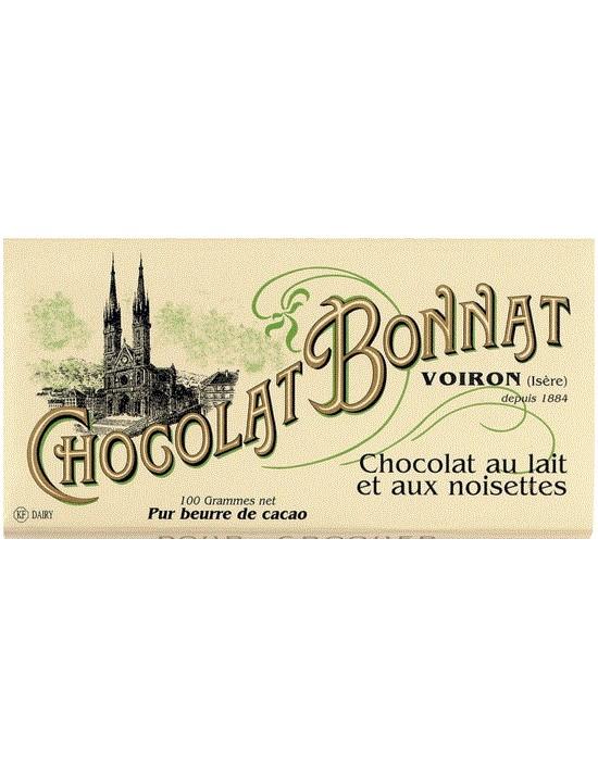 Tablette de chocolat Lait Noisettes 100gr - Bonnat