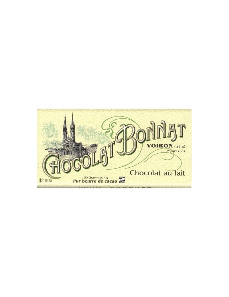 Tablette de chocolat Lait 100gr - Bonnat