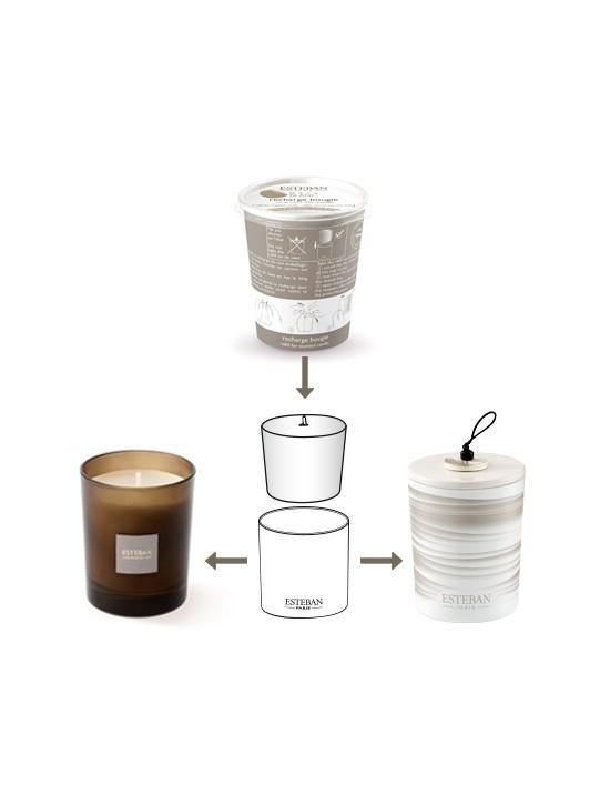 Recharge pour bougie parfumée Rêve blanc - Esteban