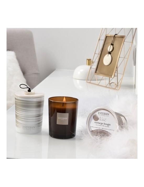 Bougie déco parfumée rechargeable Rêve blanc - Esteban