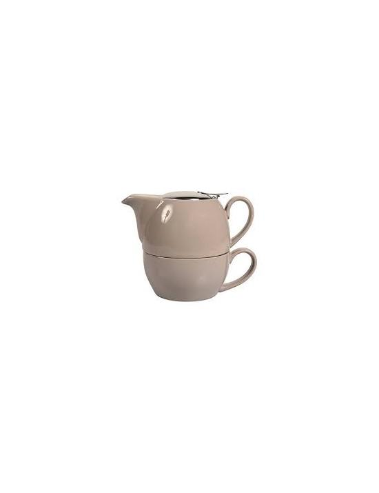 Egoiste boule en céramique 0,65l gris taupe