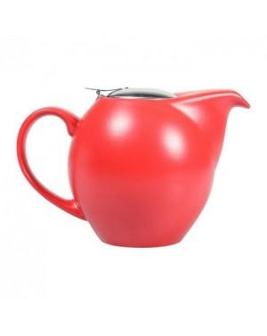 Théière boule en céramique 1L rouge mat