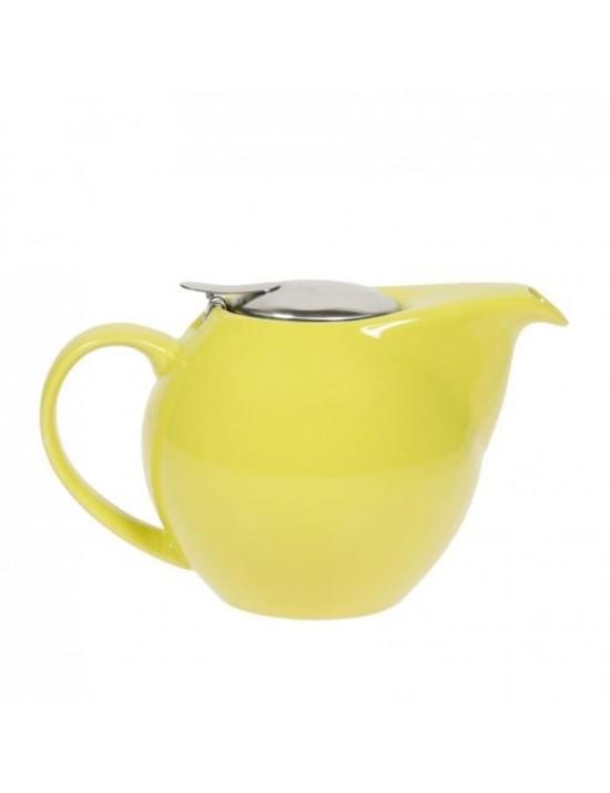 Théière boule en céramique 0,5L vert anis