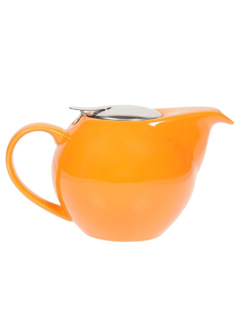Théière boule en céramique 0,5L orange