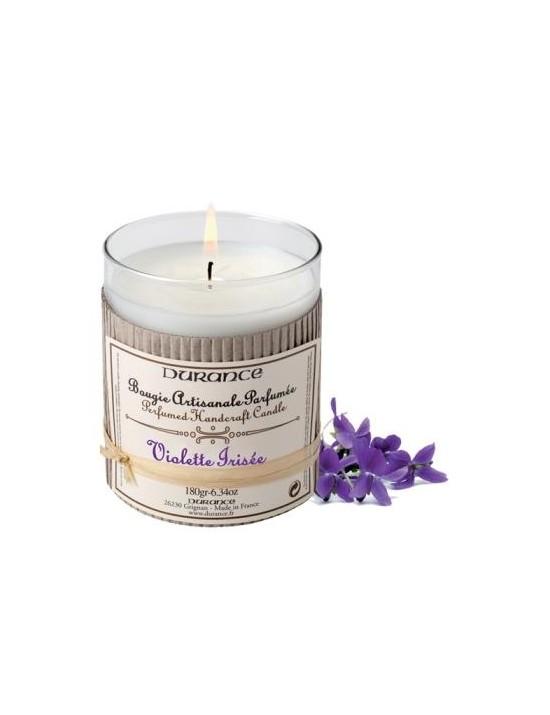Bougie artisanale Violette irisée - Durance