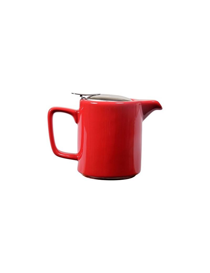 Théière cylindrique en céramique 0,5L rouge