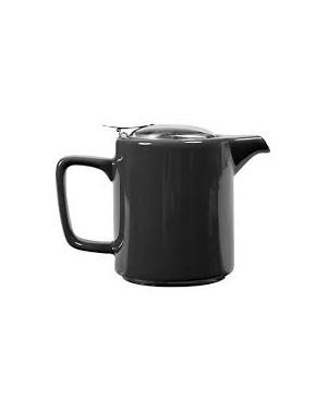 Théière cylindrique en céramique 0,5L noir
