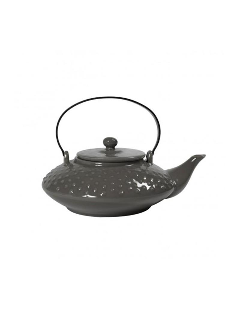 Théière picots en céramique 0,65L gris eiffel