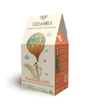 Café bio en capsules 100% Arabica Méxique  et  Brésil - Adèle - Terramoka