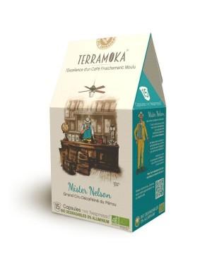 Café bio en capsules 100% Arabica décaféiné du Pérou Mr Nelson - Terramoka