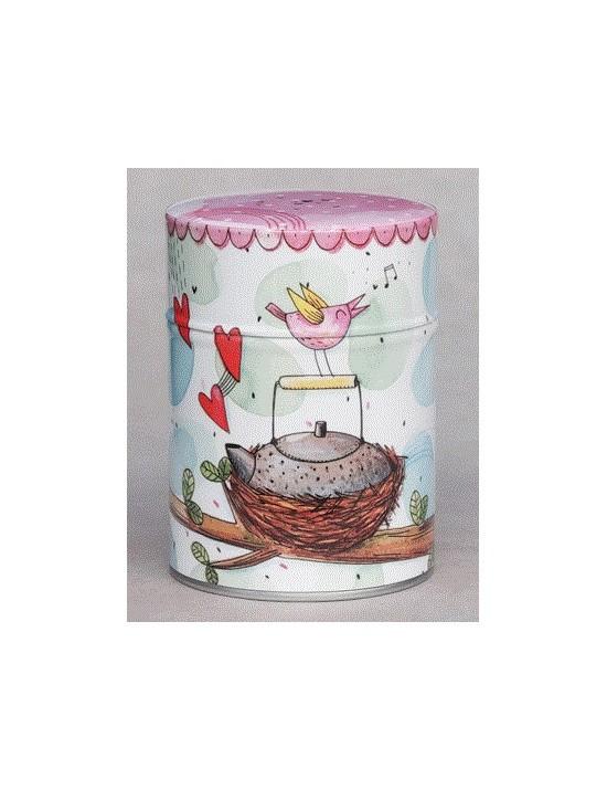 Boite à thé La théière dans un nid