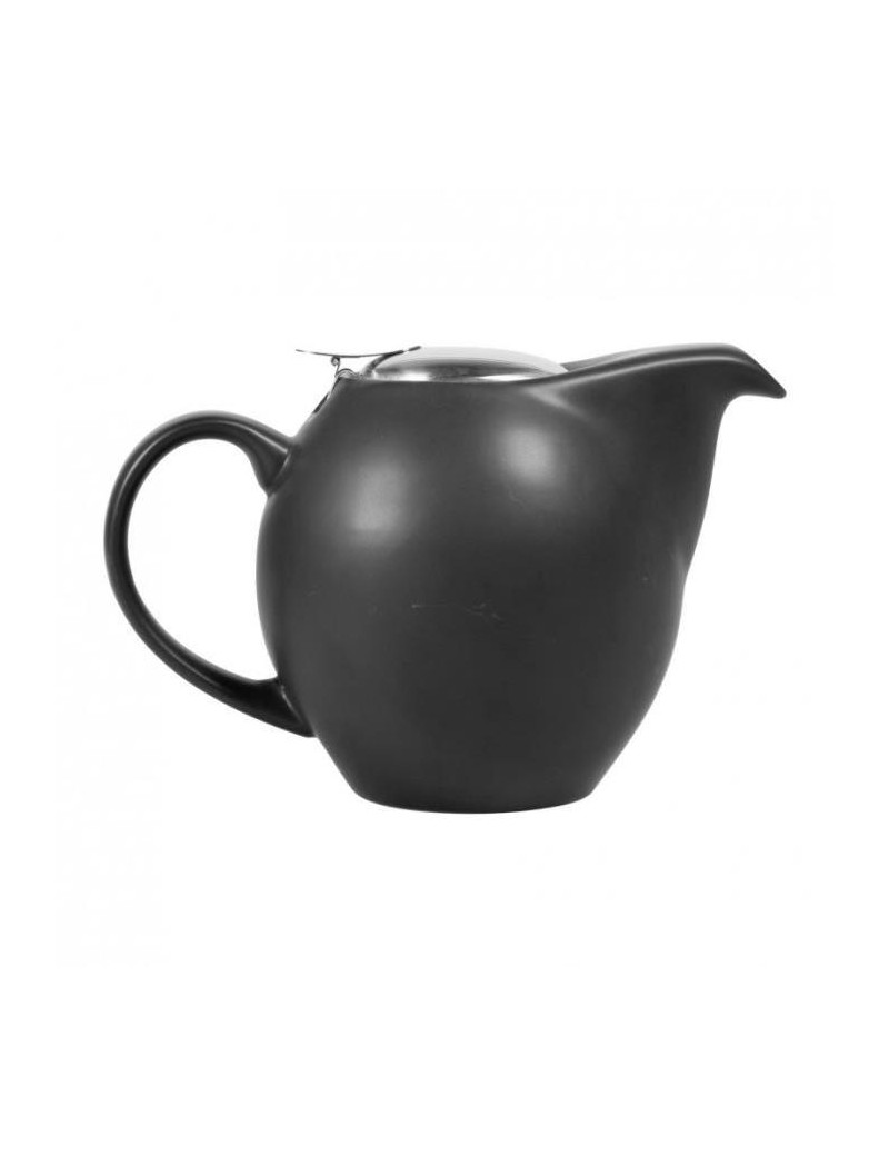 Théière boule en céramique 1L noir mat
