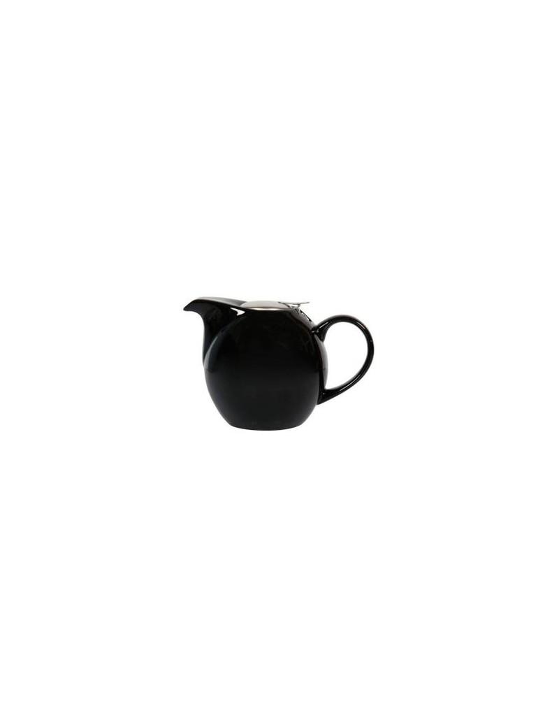 Théière boule en céramique noire 1,5L