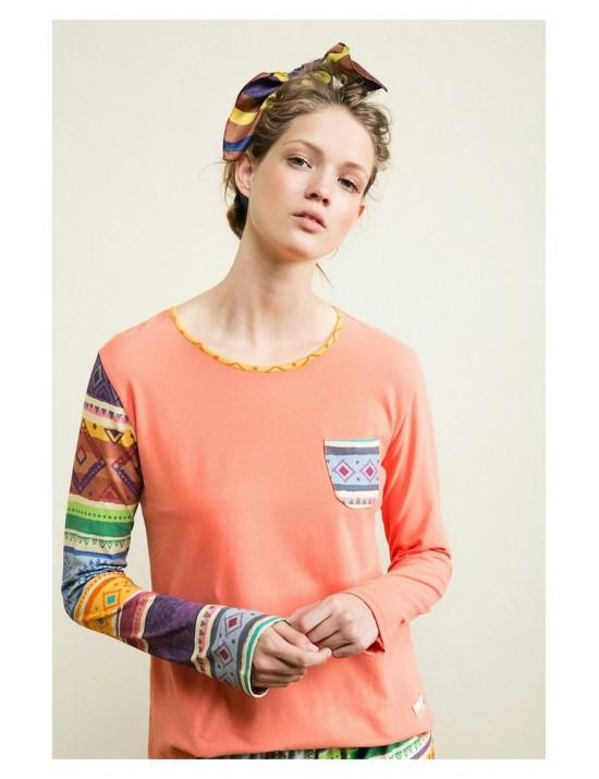 Tee-shirt manche longue tribal Galactic - Desigual
