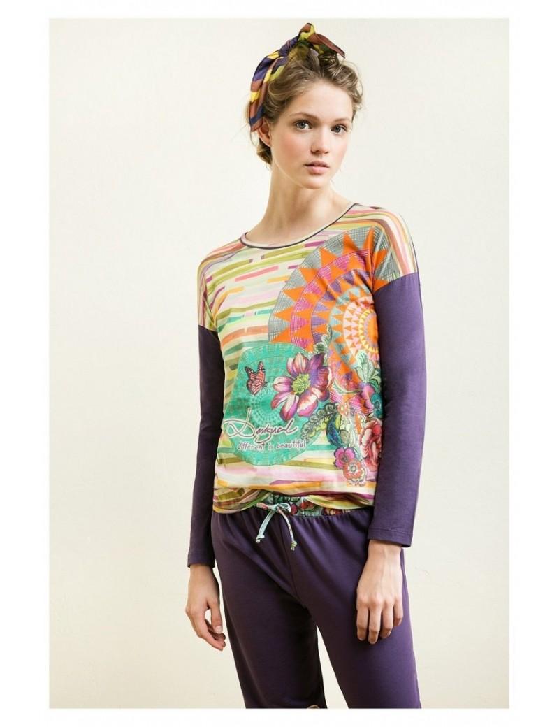 Tee-shirt manche longue Roscon tribal - Desigual
