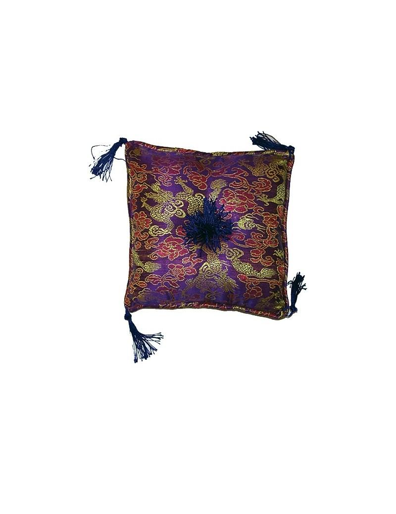Coussin pour bol tibtain violet