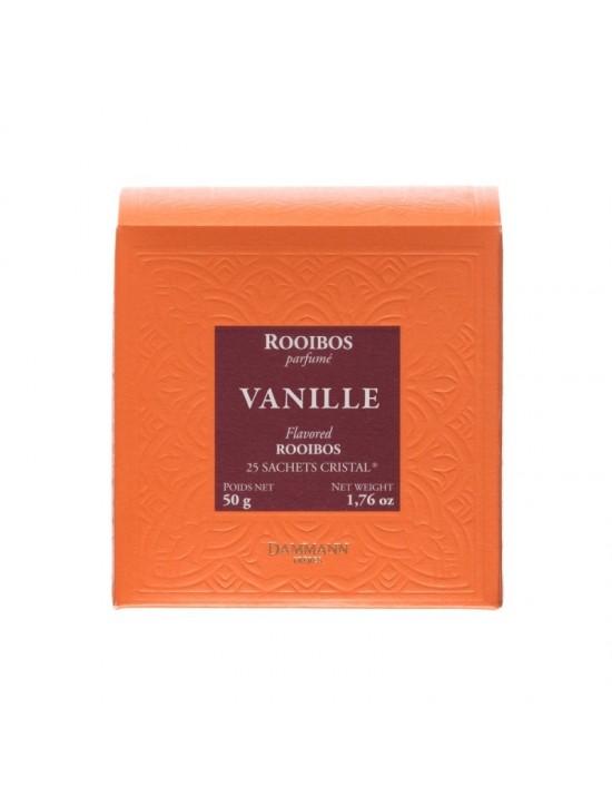 Thé rouge Rooibos Vanille en sachet - Dammann frères