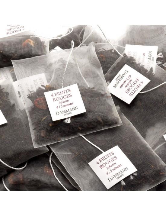 Thé noir 4 fruits rouges en sachet - Dammann frères