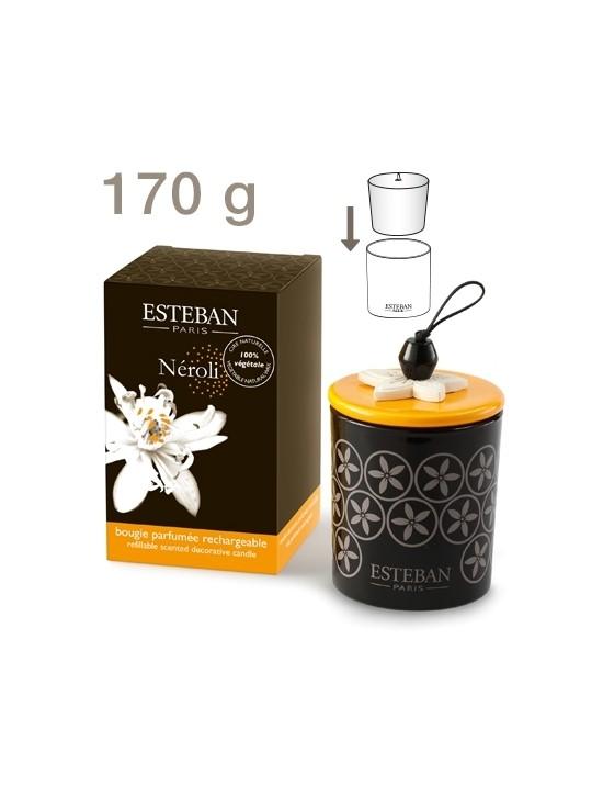 Bougie déco parfumée rechargeable Néroli - Esteban