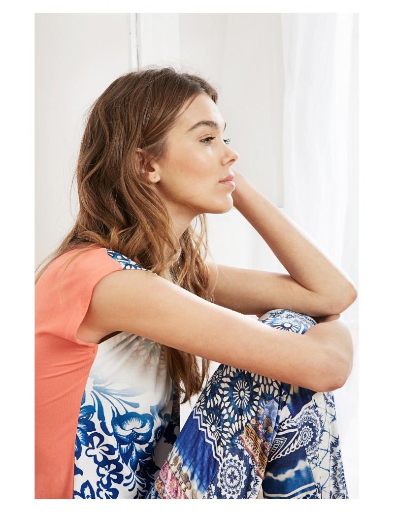Tee-shirt Exotic jean sleeveless - Desigual