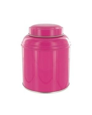 Boite à thé dôme rose