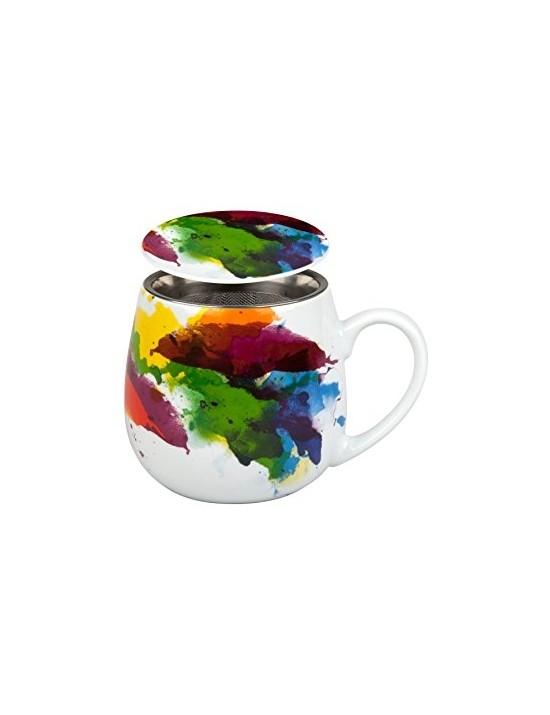 Mug Snuggle avec filtre et couvercle Desigual - Konitz