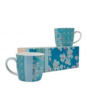 Coffret de 2 mug à thé en porcelaine La fiancée du Mékong