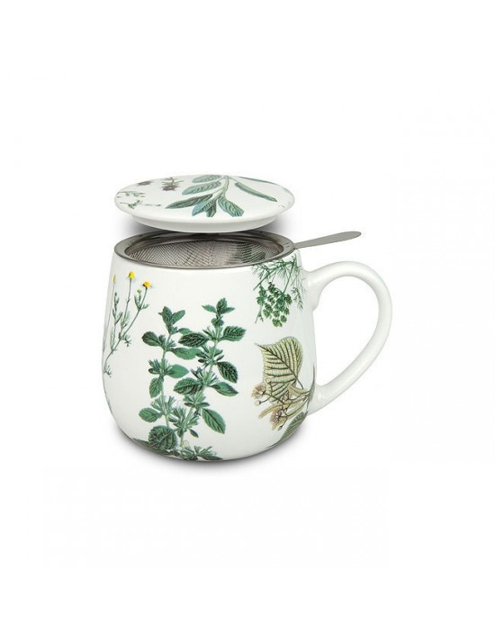 Mug Snuggle avec filtre et couvercle Plantes - Konitz