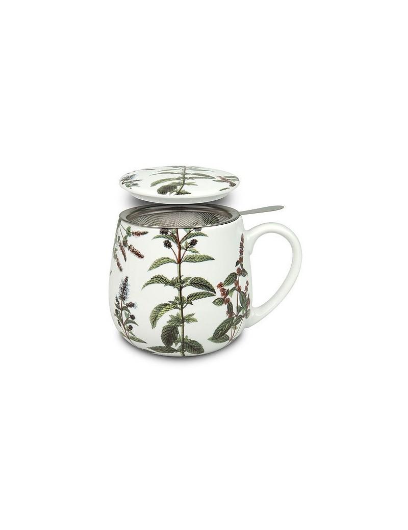 Mug Snuggle avec fliltre et couvercle Plantes- Konitz