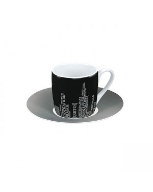 Tasse à café cities on black - Konitz