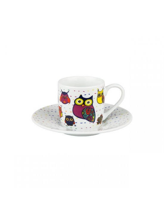 Tasse à café hiboux blanc - Konitz