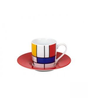 Tasse à café Hommage large fragments - Konitz