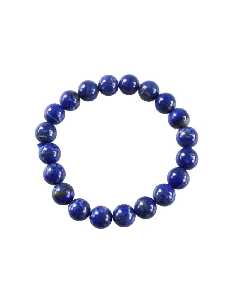 Bracelet perles rondes Lapis Lazuli