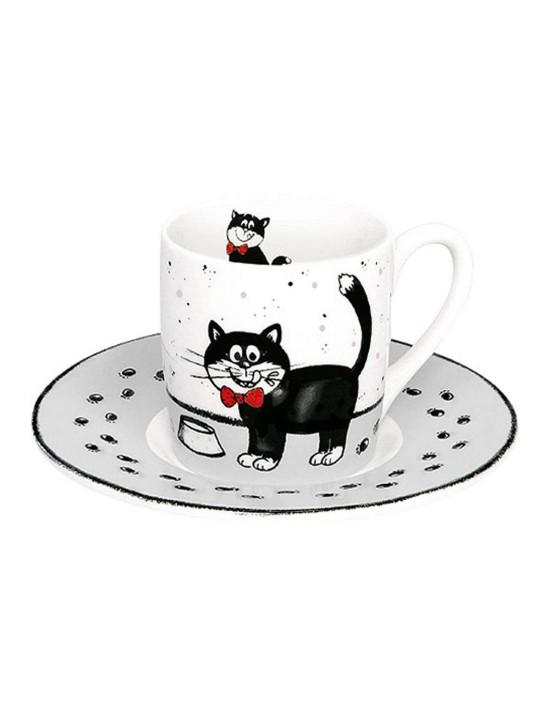 Tasse à café  Carlo le chat - Konitz__