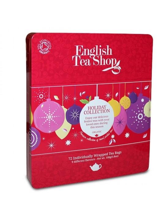 Coffret métallique de thés et infusions vacances d'hiver - English Tea Shop