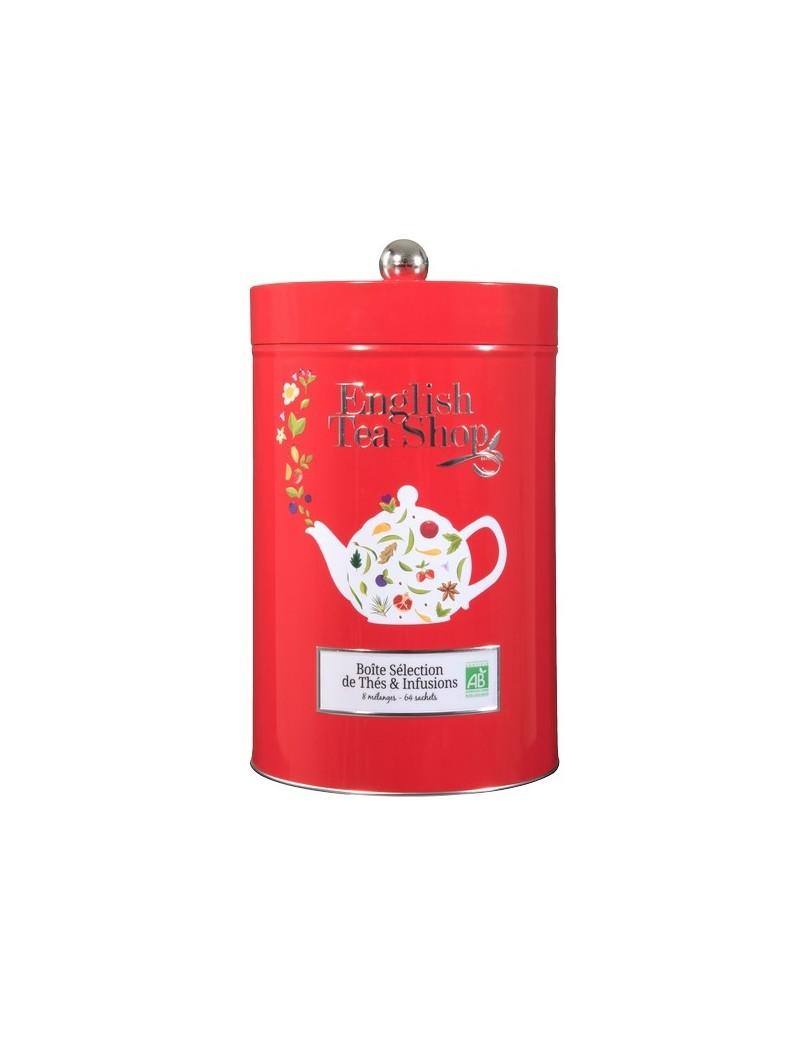 Boite rouge thés et infusions - English Tea Shop
