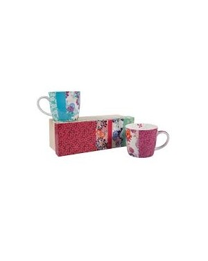 Coffret de 2 mugs en porcelaine Melow