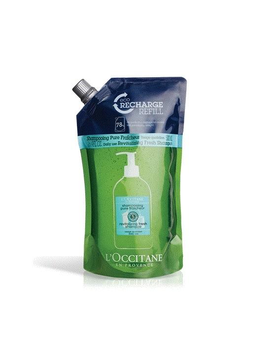 Eco-recharge shampooing pure fraicheur Aromachologie - L'Occitane