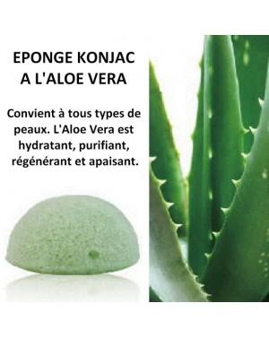 Eponge Konjac à l'aloevera