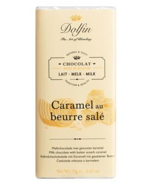 Tablette de chocolat au lait  et  caramel au beurre salé - Dolfin