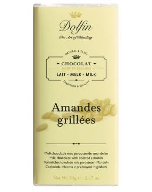 Tablette chocolat au lait  et  amandes grillées - Dolfin