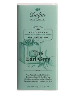 Tablette de chocolat noir 60pourcent  et  thé Earl Grey - Dolfin
