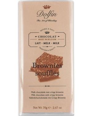Tablette de chocolat au lait  et  brownies soufflés - Dolfin
